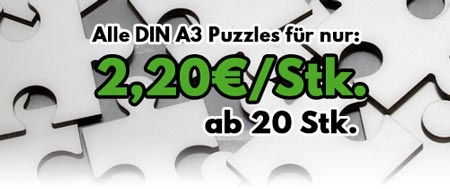 Angebot A3 Puzzle 2,20 ab 20 Stk.