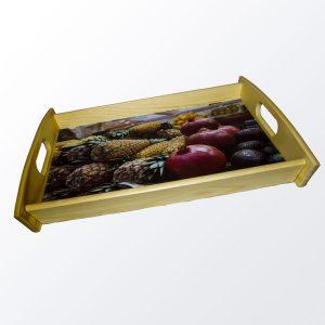 Bild Tablett Holz Groß